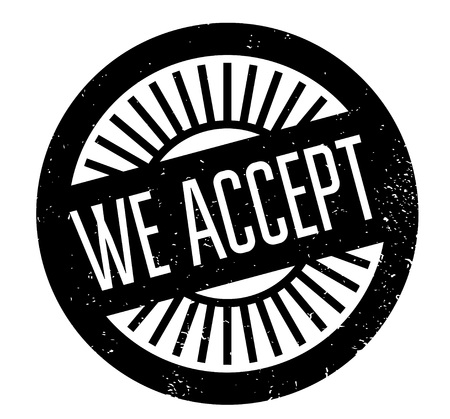 We Accept rubber stamp Illustration