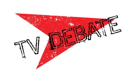 Tv Debate rubber stamp