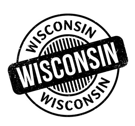 Wisconsin rubber stamp Stock Vector - 82436703
