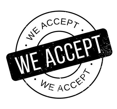 reluctance: We Accept rubber stamp Illustration