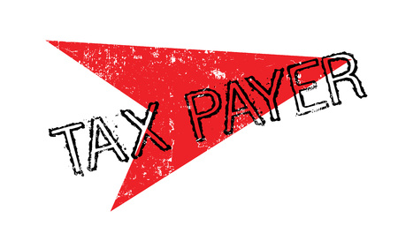 Tax Payer rubber stamp Vettoriali