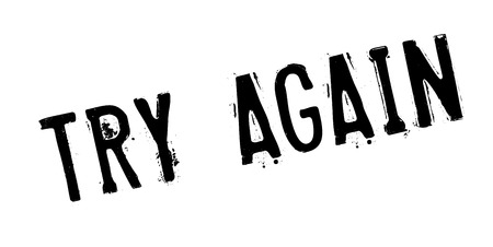 Try Again rubber stamp Illustration