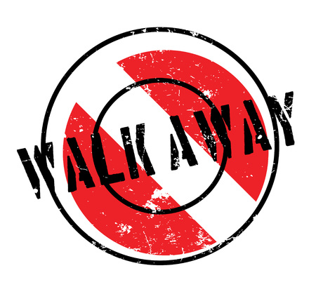 Walk Away rubber stamp