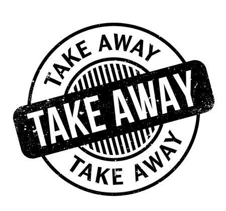 grain: Take Away rubber stamp Illustration