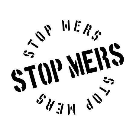 coronavirus: Stop Mers rubber stamp. Grunge design with dust scratches. Effects can be easily removed for a clean, crisp look. Color is easily changed.