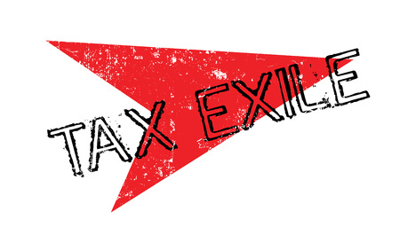 Tax Exile rubber stamp. Grunge design with dust scratches. Effects can be easily removed for a clean, crisp look. Color is easily changed. Vettoriali