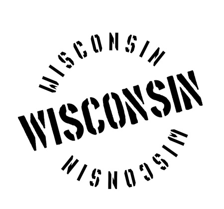 Wisconsin rubber stamp Stock Vector - 82426523