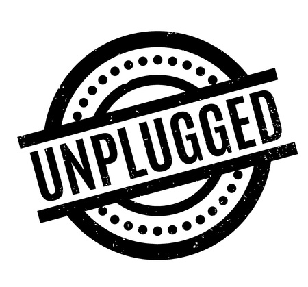 Unplugged rubber stamp Illustration