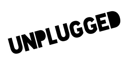 Unplugged rubber stamp Иллюстрация