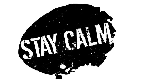 Stay Calm rubber stamp