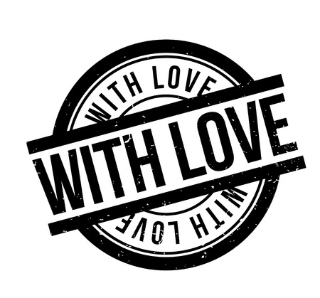 With Love rubber stamp