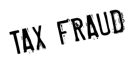 Tax Fraud rubber stamp. Vector illustration.