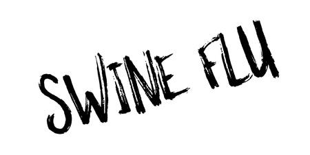 Swine Flu rubber stamp. Vector illustration.