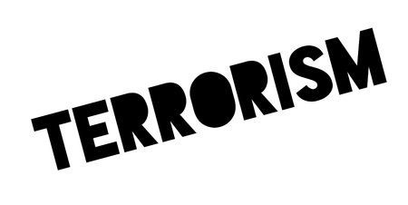 Terrorism rubber stamp. Grunge design with dust scratches. Effects can be easily removed for a clean, crisp look. Color is easily changed.