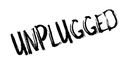 music: Unplugged rubber stamp. Grunge design with dust scratches. Effects can be easily removed for a clean, crisp look. Color is easily changed.