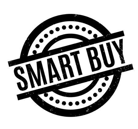 Smart Buy rubber stamp. Vector illustration. Illusztráció
