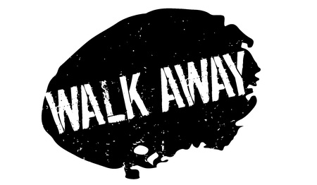 Walk Away rubber stamp. Vector illustration.