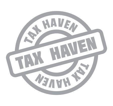 Tax Haven Rubberzegel. Vector illustratie. Stockfoto - 82426013