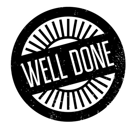 Well Done rubber stamp. Vector illustration. Çizim