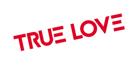 True Love rubber stamp. Vector illustration.