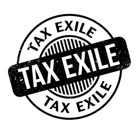 tax policy: Tax Exile rubber stamp. Vector illustration.