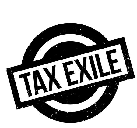 Tax Exile rubber stamp. Vector illustration.