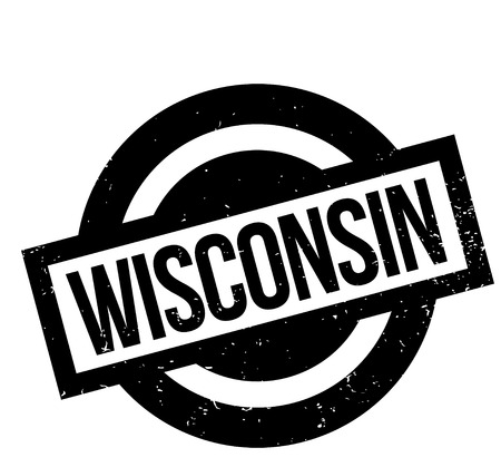 Wisconsin rubber stamp. Vector illustration. Illustration