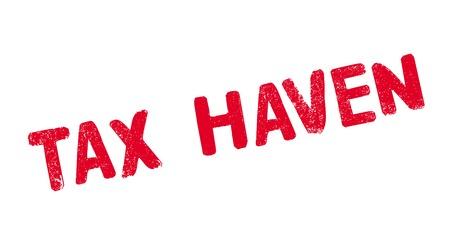 Tax Haven rubber stamp. Vector illustration. Illustration