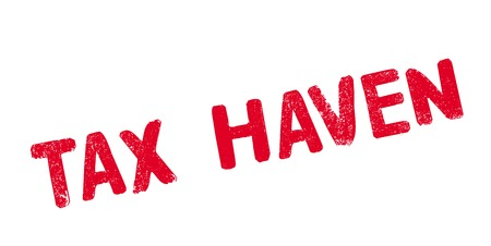 Tax Haven rubber stamp. Vector illustration. Ilustração