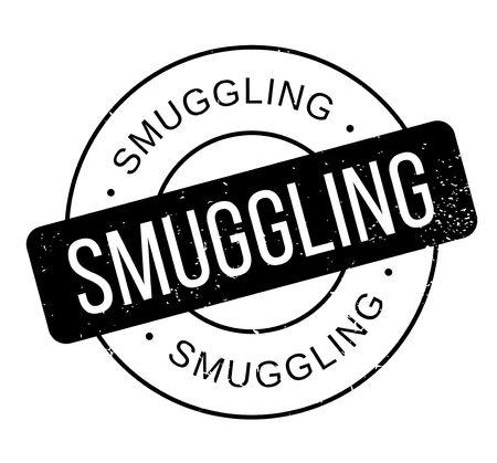 old people: Smuggling rubber stamp. Vector illustration. Illustration