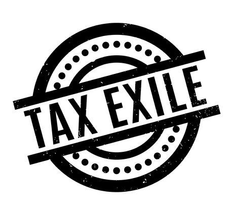 evade: Tax Exile rubber stamp. Grunge design with dust scratches. Effects can be easily removed for a clean, crisp look. Color is easily changed. Illustration
