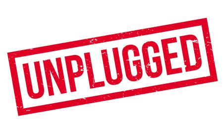 Unplugged rubber stamp Illustration