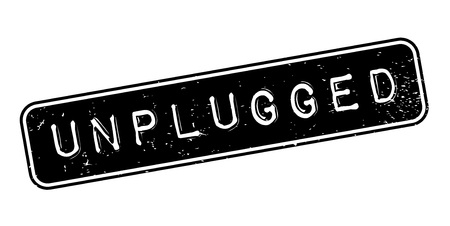 show off: Unplugged rubber stamp Illustration