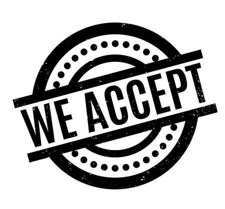 to compromise: We Accept rubber stamp Illustration