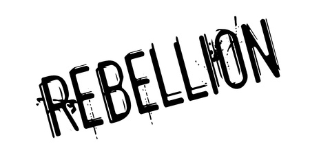 Rebellion rubber stamp Stock Photo