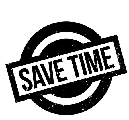 Save Time rubber stamp Stok Fotoğraf - 82453531
