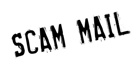 vulnerable: Scam Mail rubber stamp
