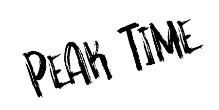 Peak Time rubber stamp