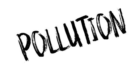 contaminacion del agua: Sello de caucho de la contaminación