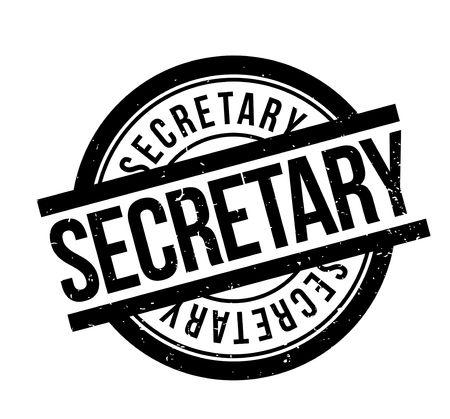 Secretary rubber stamp