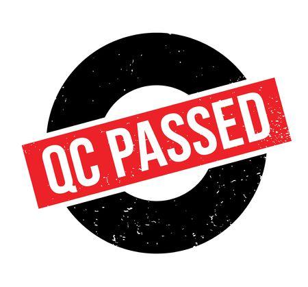 qc: Qc Passed rubber stamp