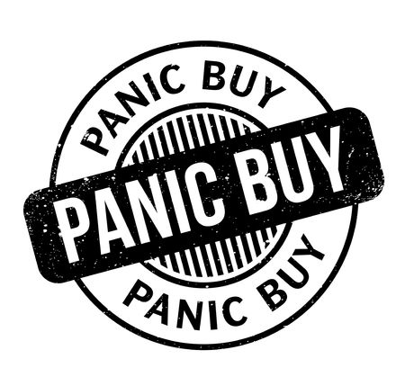 Panic Buy rubber stamp