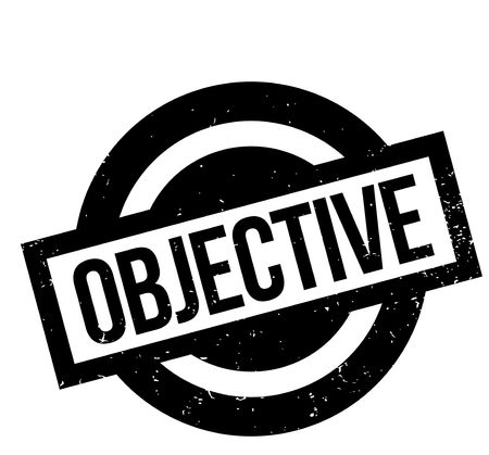 Objective rubber stamp