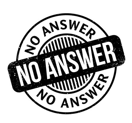 No Answer rubber stamp