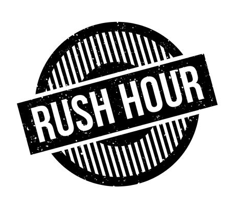 Rush Hour rubber stamp Imagens - 82453924