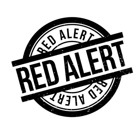 risky situation: Red Alert rubber stamp