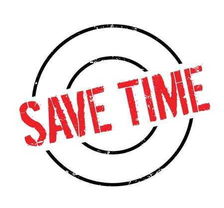 Save Time rubber stamp Stok Fotoğraf - 82453973