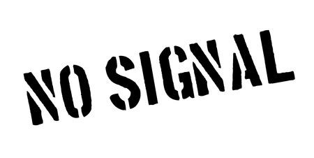 No Signal rubber stamp Illustration