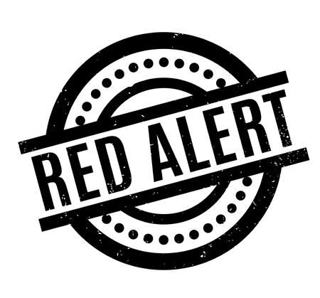 Red Alert rubber stamp