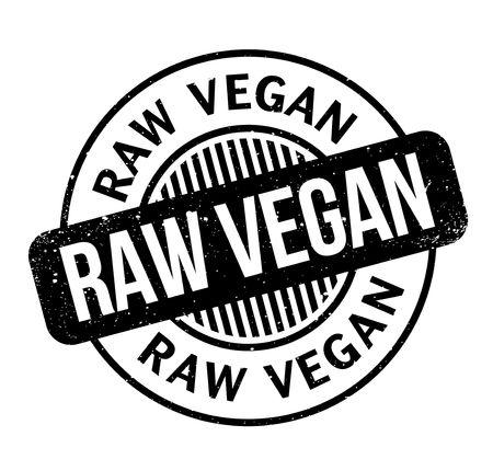 Raw Vegan rubber stamp Banco de Imagens - 82454673